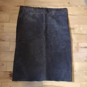 Vintage Le Château Real Suede Midi Skirt